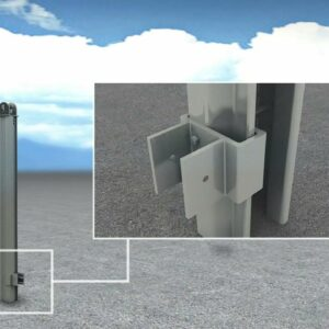 Levin solar PV ground mounting system.  Solar bracket for ground mounting.